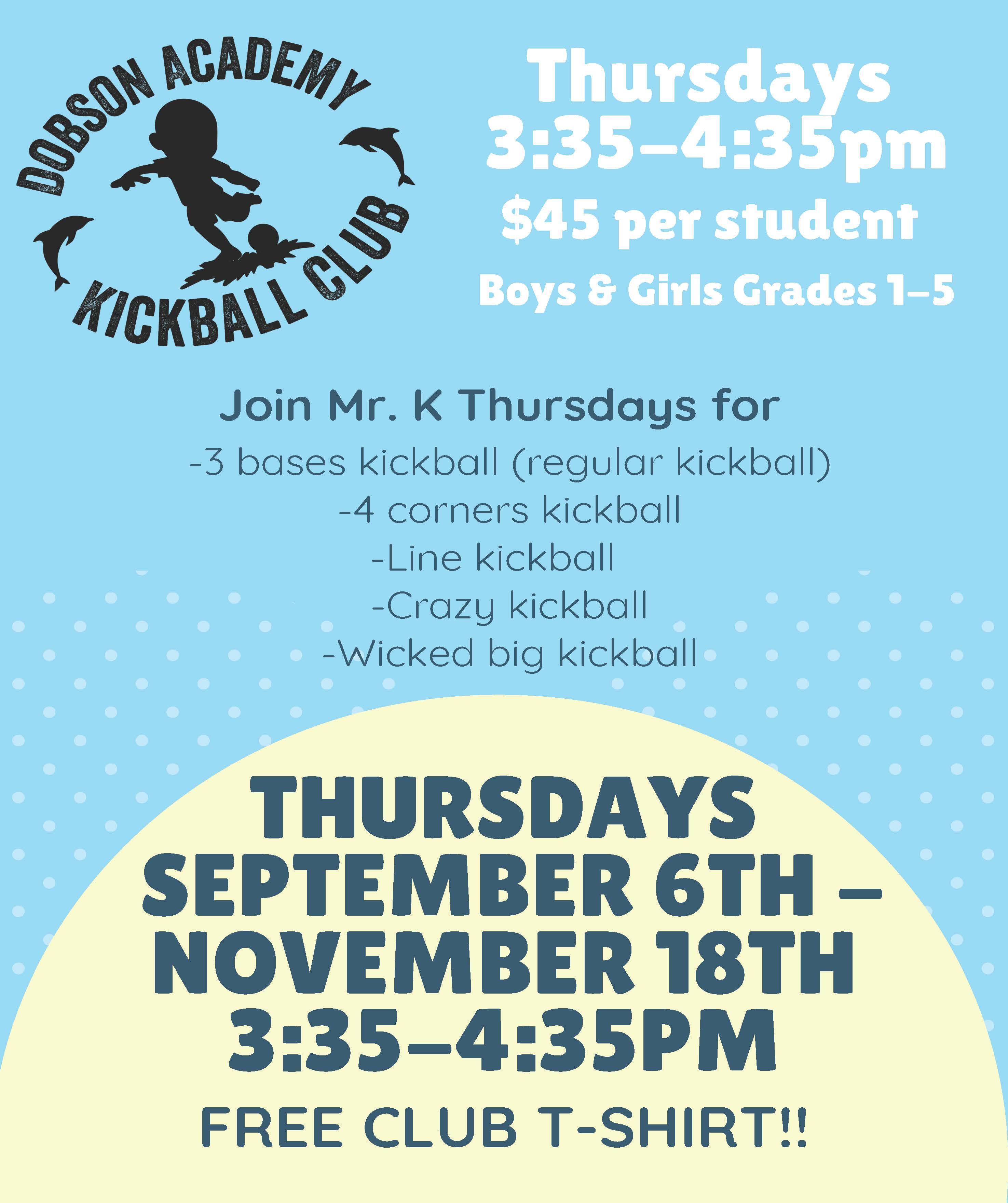 Kickball club flyer