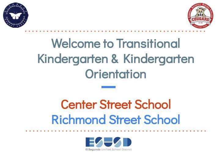 TK/Kinder Orientation 2021-2022 Featured Photo