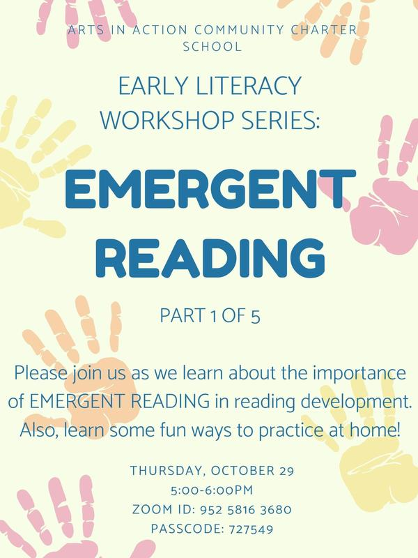 Early Literacy Workshop/ Taller de alfabetización temprana Thumbnail Image