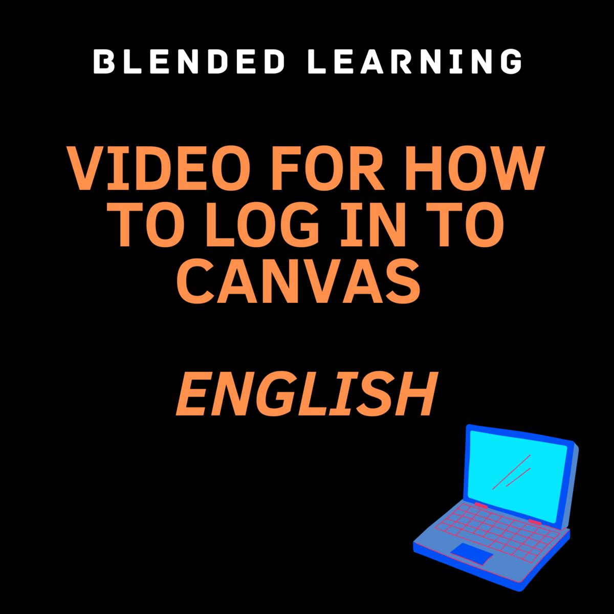 canvas log in english