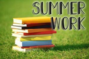 Summer Work for Regular, Honors and AP level courses Thumbnail Image