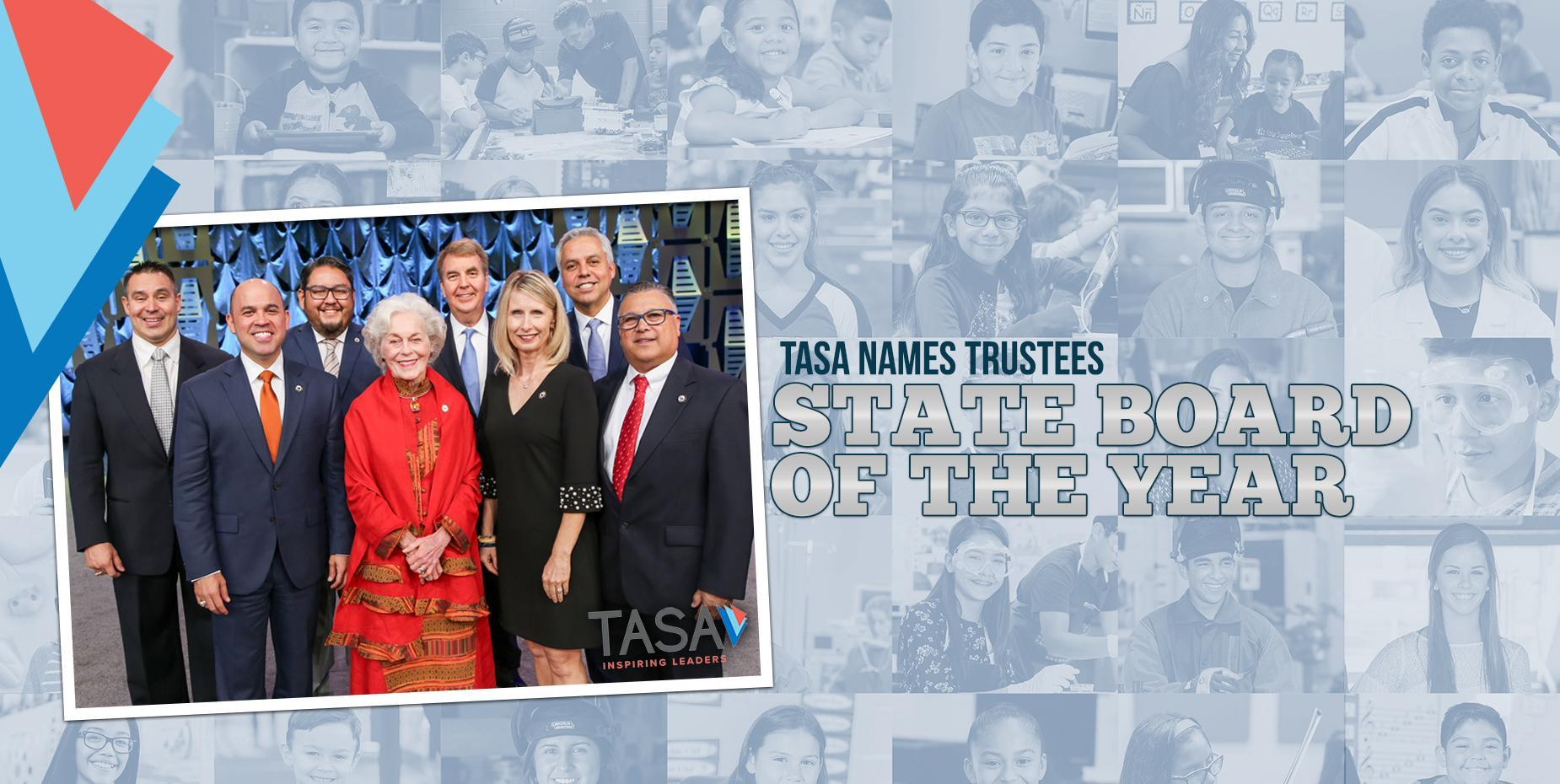 board of the year photo of HCISD board of trustees