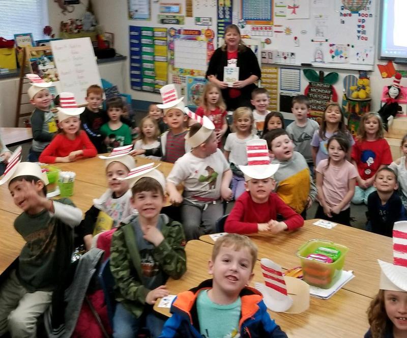 Mrs. Rubin Reading to Mrs. Asmus' Class