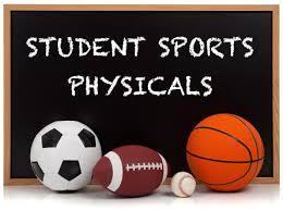 Announcement for Sports Physicals.