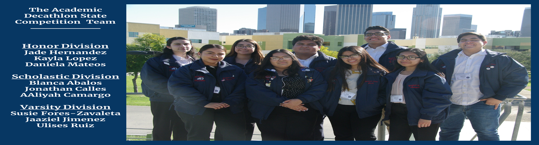 Photo of The Academic Decathlon State Team