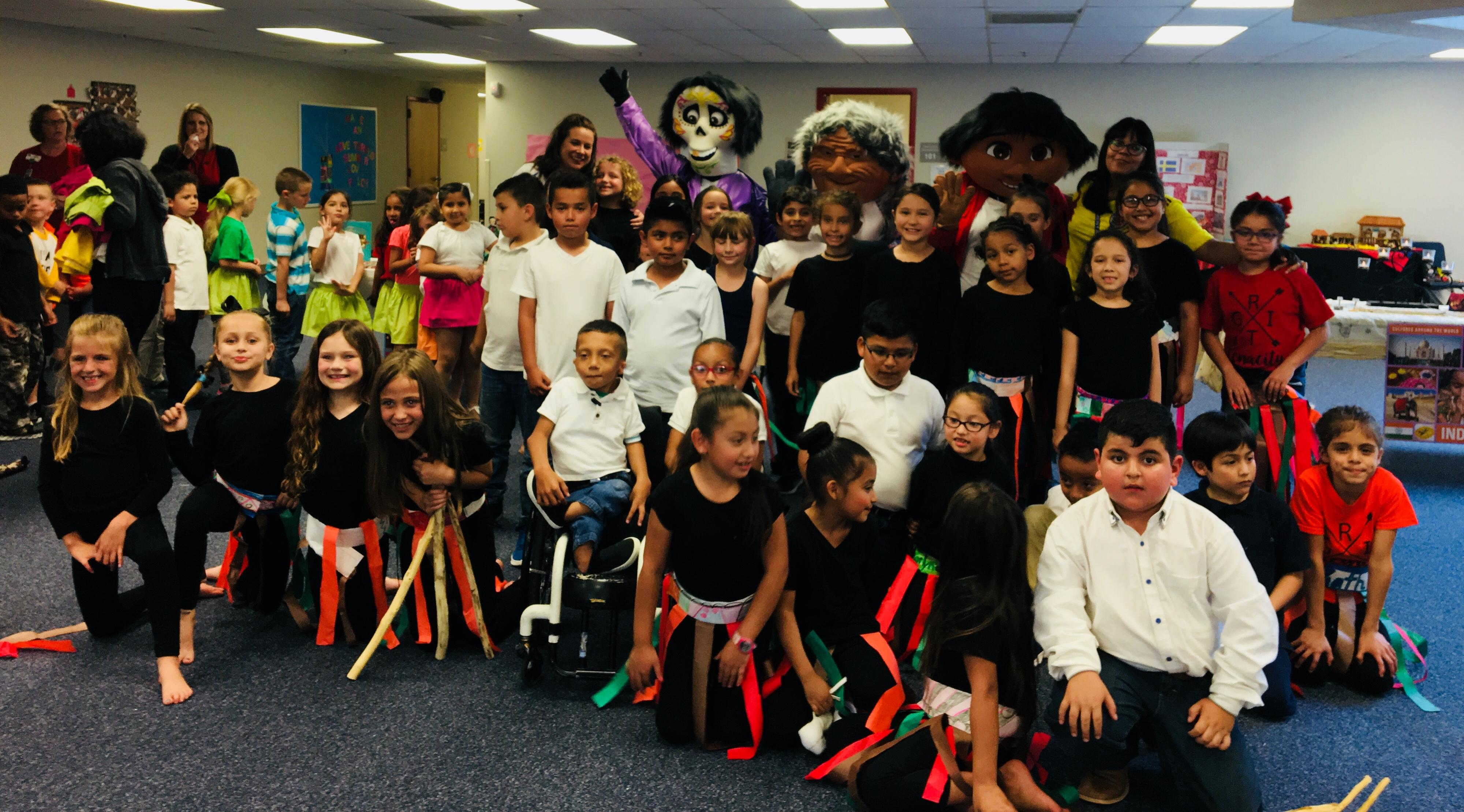 Liberty Elementary students and families recently participated in a two-day cultural event that included performances by students in the school's dual language classes