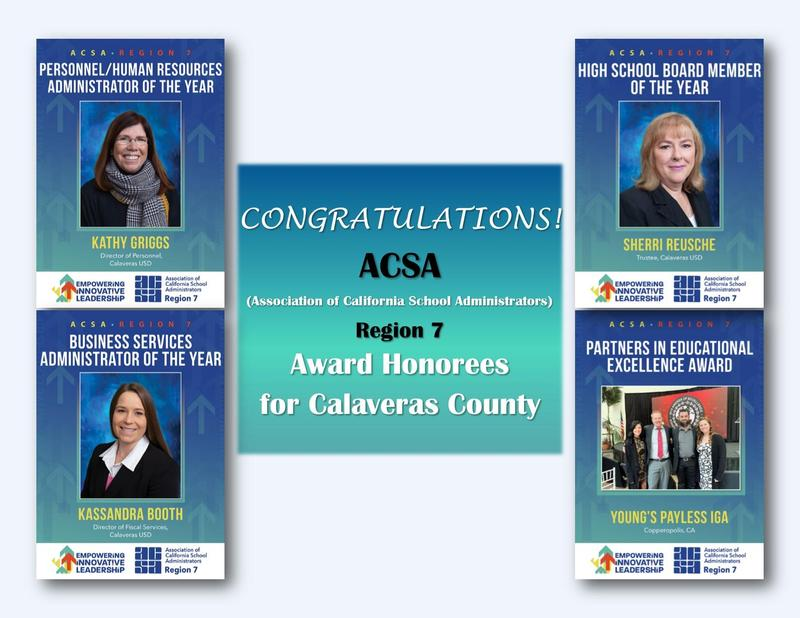 ACSA Annual Administrator of the Year Awardees