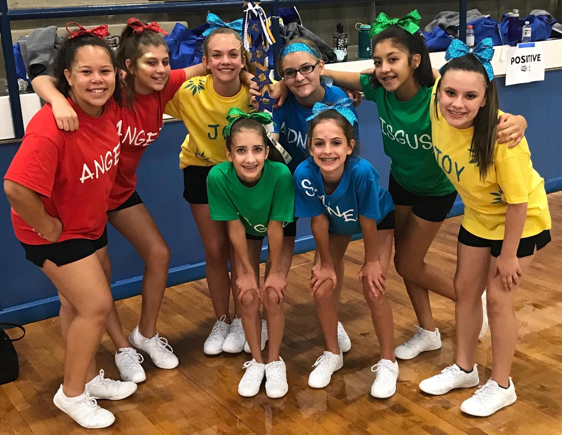 Cheer Camp Fun Day was Inside Out!