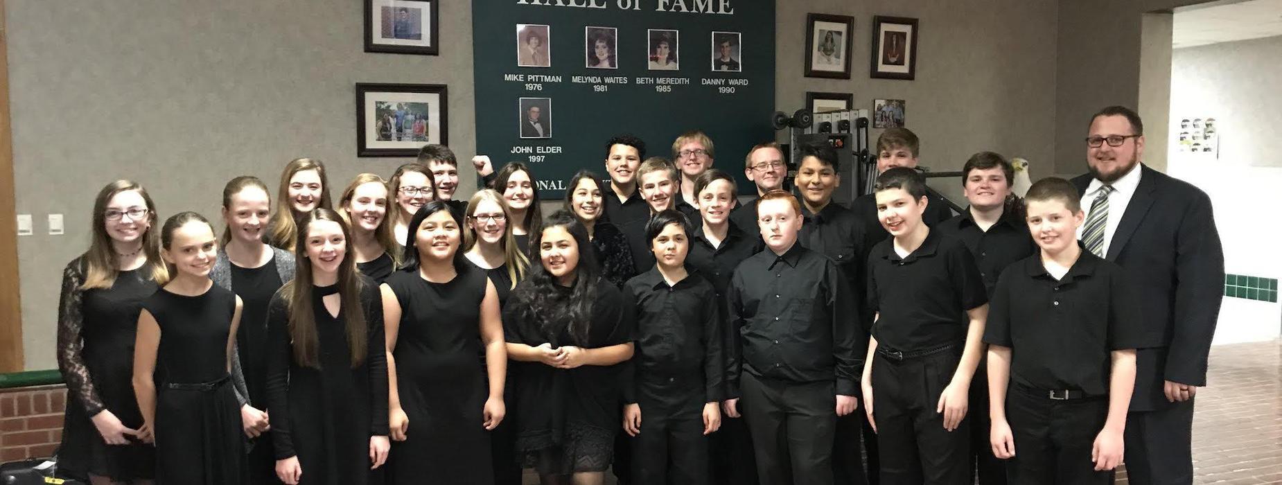 2017-18 Junior High Band Students