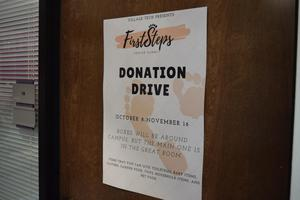 Donation Drive Sign