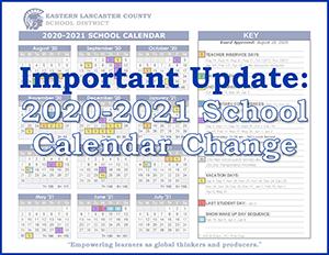 Important Update - Calendar Change 20-21 Banner Image