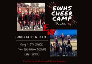EWHS Cheer Camp June 14-15 Thumbnail Image