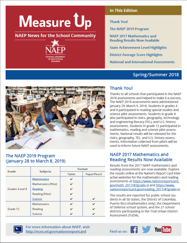 North Elementary 4th grade has been chosen by the NAEP for sample testing! Thumbnail Image