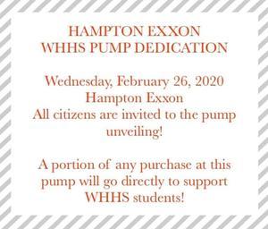 WHHS Exxon Pump Dedication