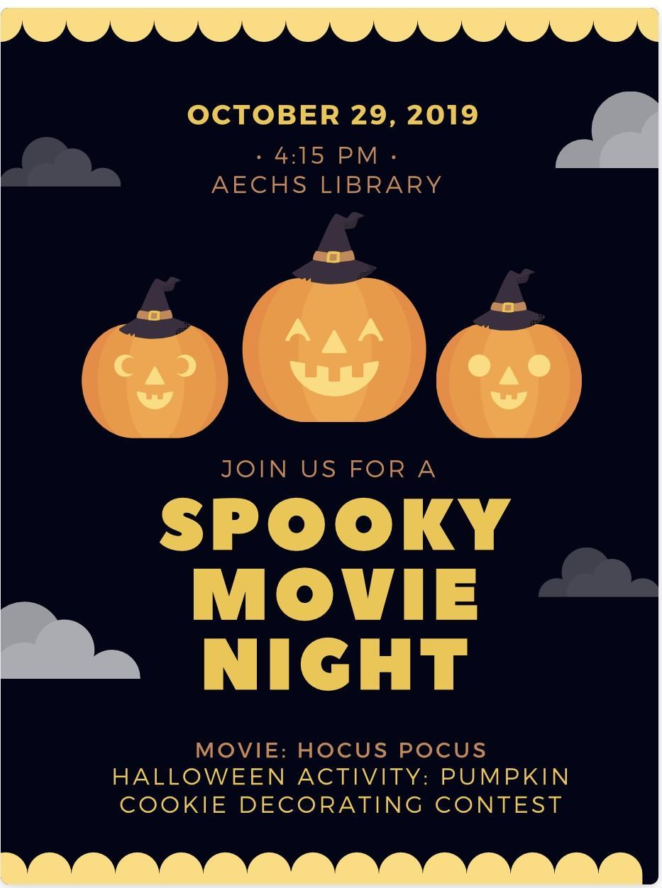 Halloween Event-Movie and Cookie Contest