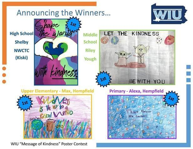 Message of Kindness Student Poster Contest Winners