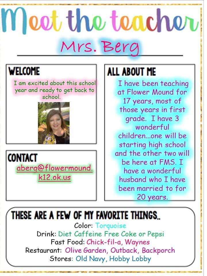 All About Mrs. Berg