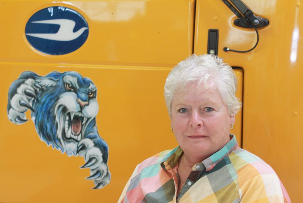 Image of bus driver Jeannie Ivester