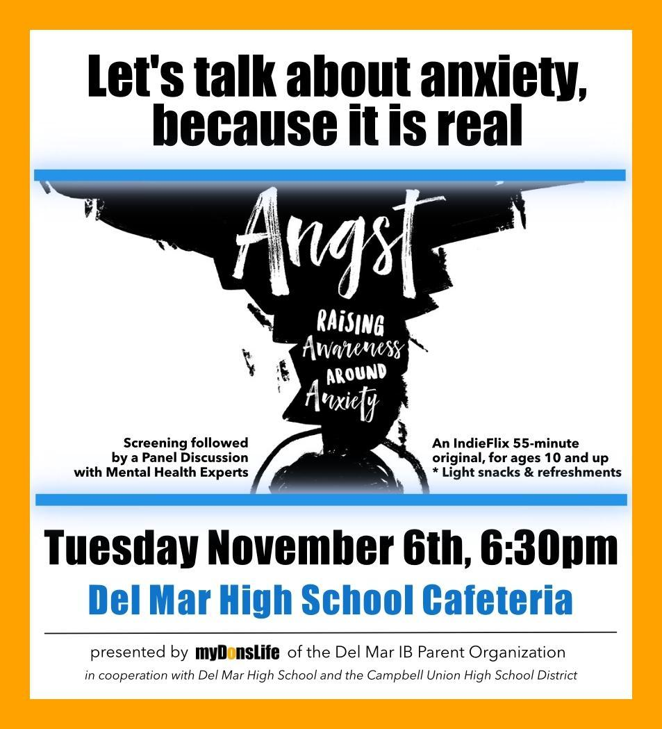 Image of Anxiety Awareness Film Parent Education Talk Flyer
