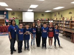 student council with board member