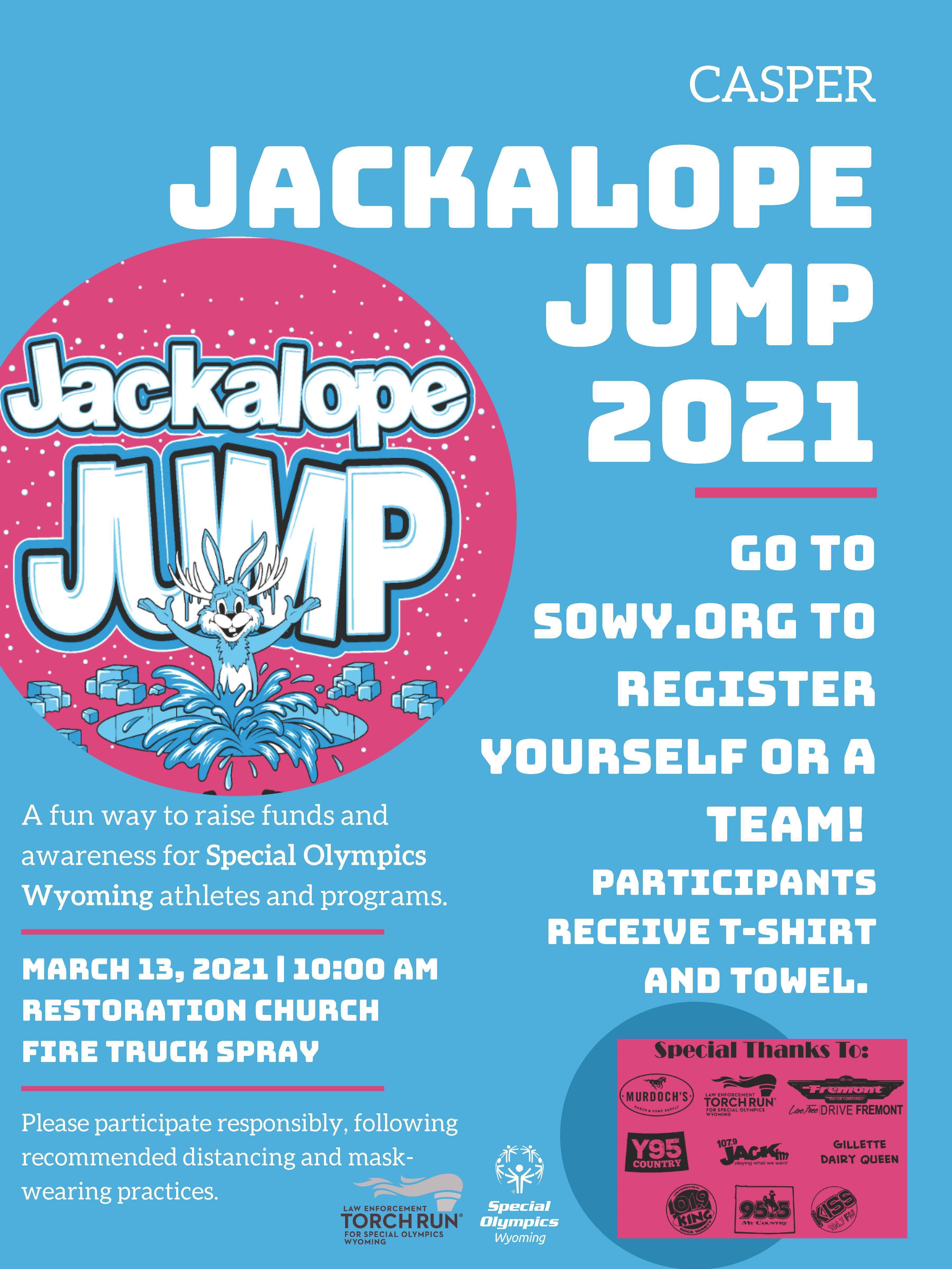 2021 Jackalope Jump Competition flyer