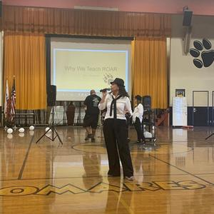 Palomares Academy #PBIS assembly made students ROAR for success! Responsible, Organized, Attentive, and Respectful are the ways of our Panthers! #proud2bepusd #pbis #pomona