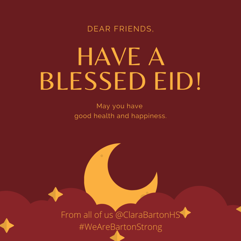 Have a blessed Eid. May you have good health and happiness
