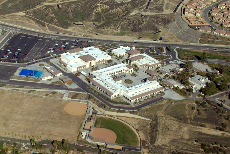 A photo of the entire school from the air