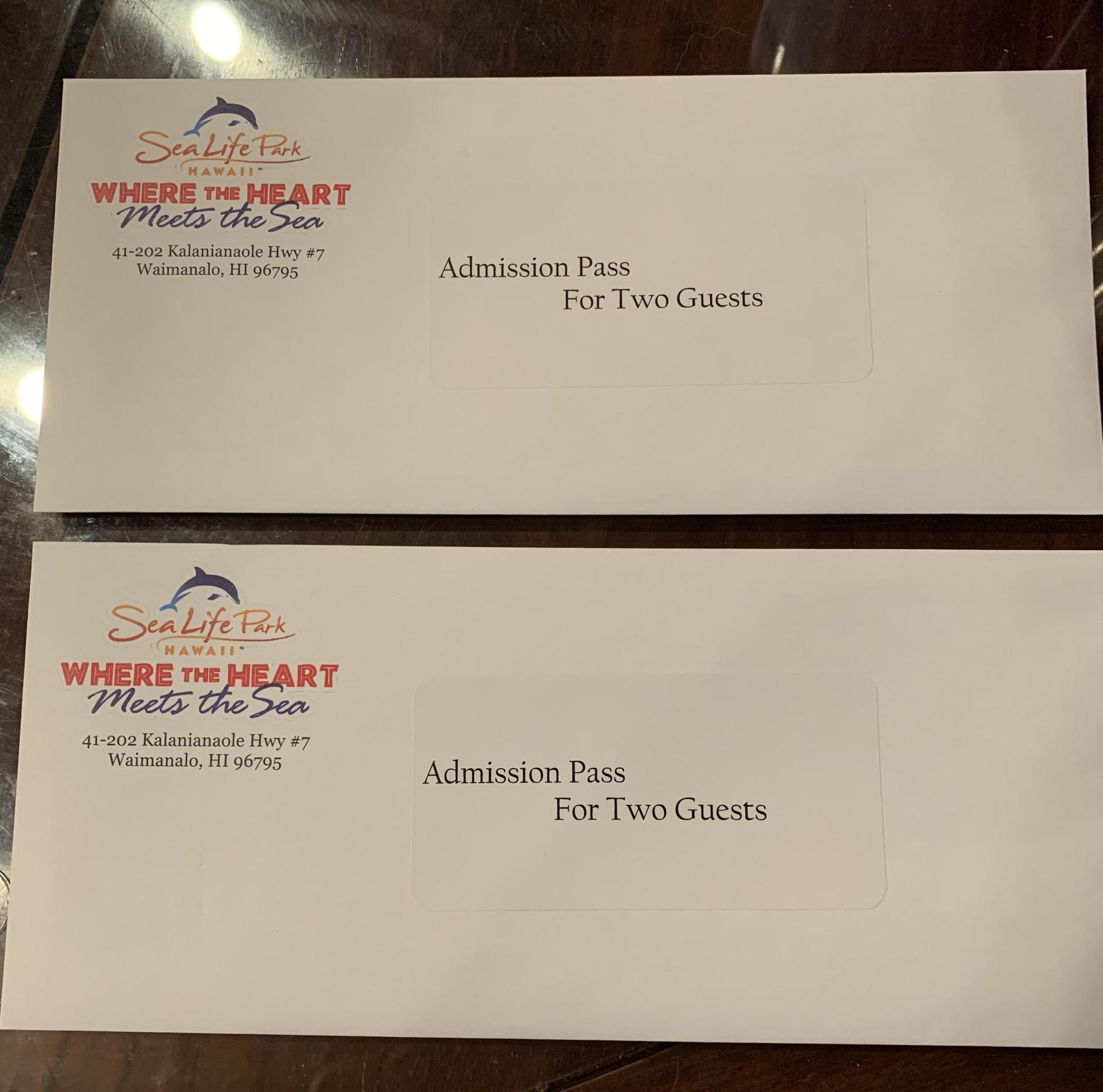 Sea Life Park Certificates