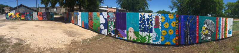 Visual Art Students Create Fence Murals in Downtown Manor Thumbnail Image
