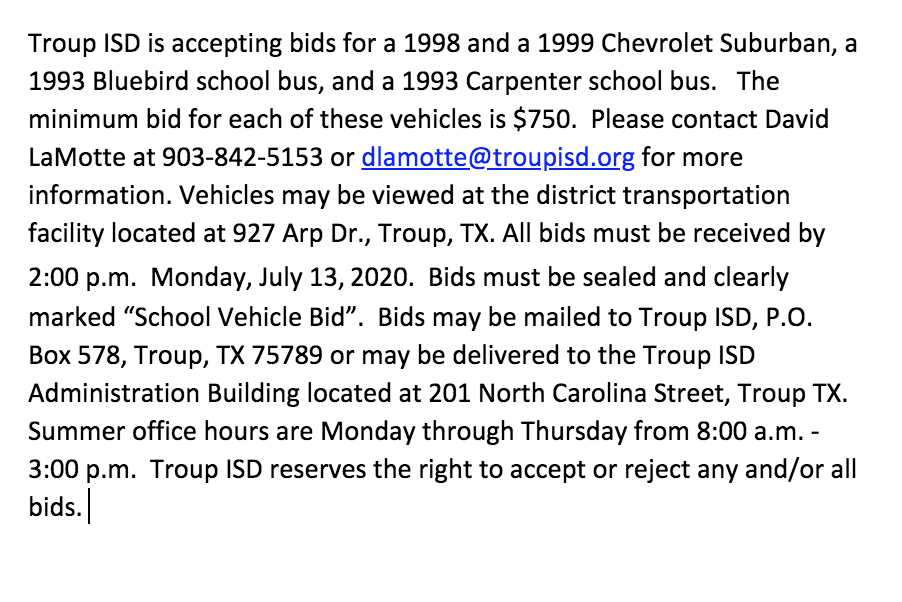 vehicle bids