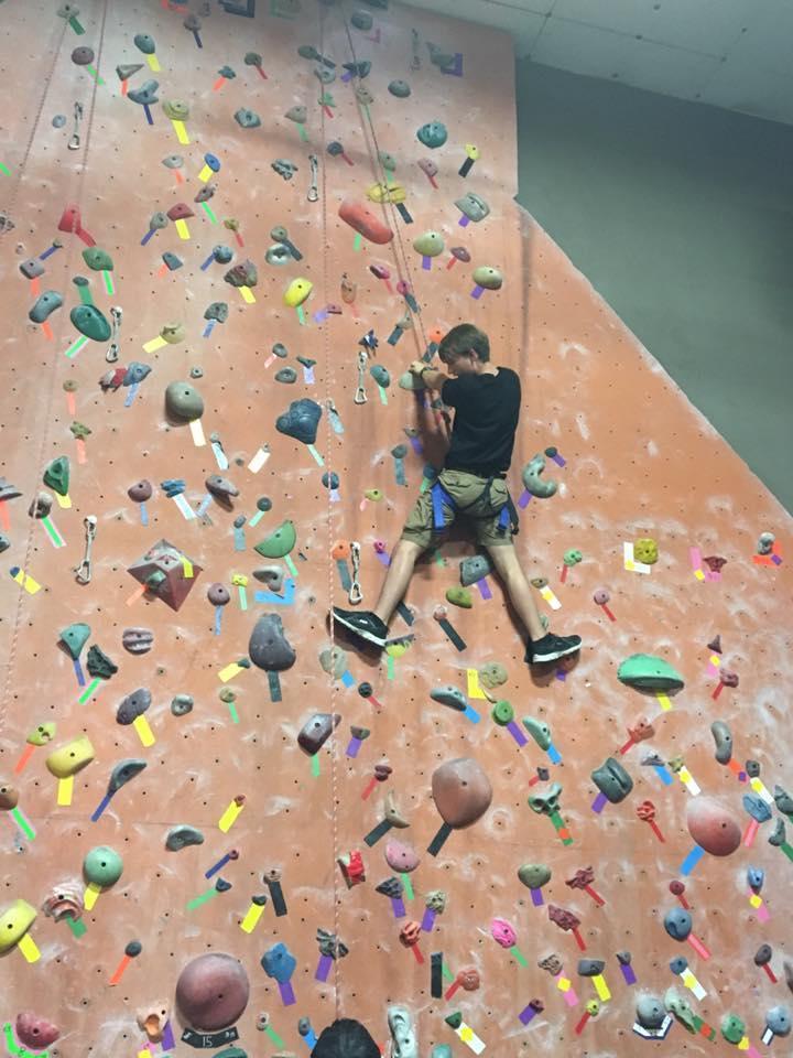 Student climbing