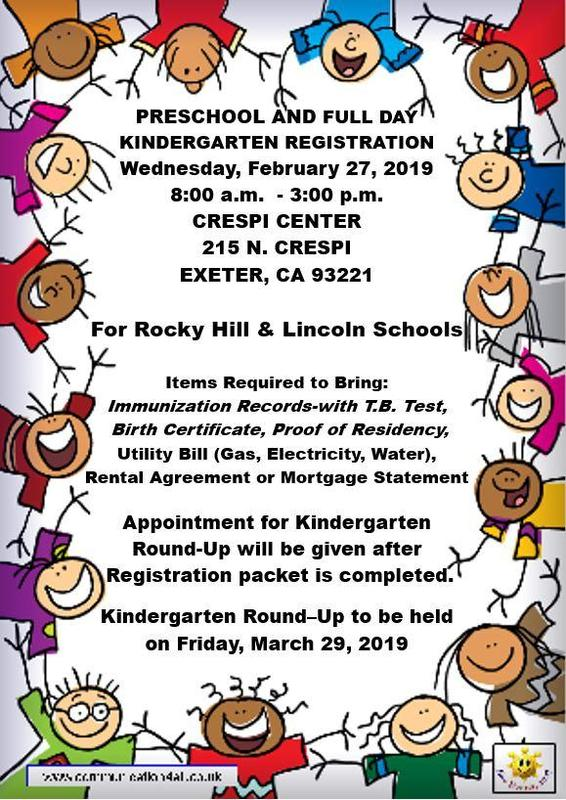 preschool and kinder registration information- english version