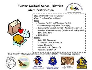 meal distribution schedule for EUSD 4-20-20- english