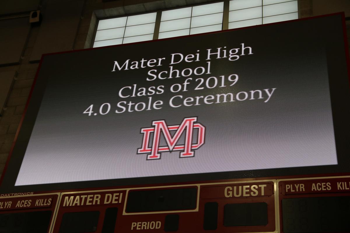 Senior Awards Night - Mater Dei High School