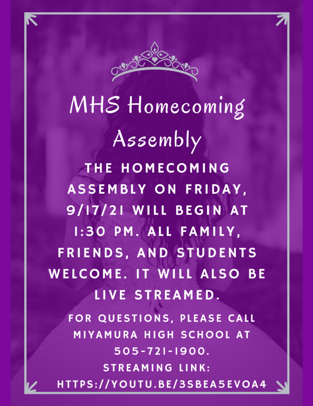 Homecoming Assembly Update!! Featured Photo