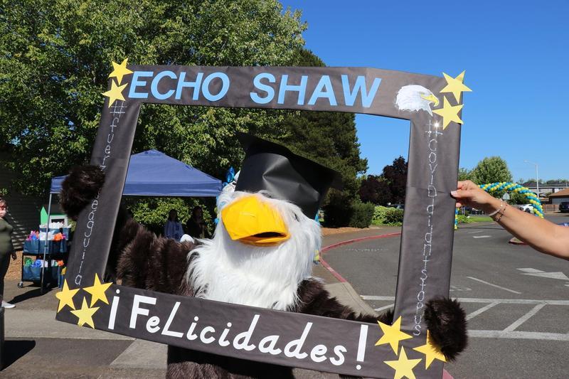 Echo Shaw's Eagle mascot