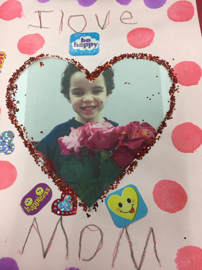 boy in heart card made for valentines day