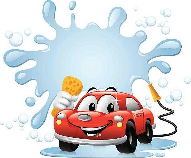 clipart of car getting washed