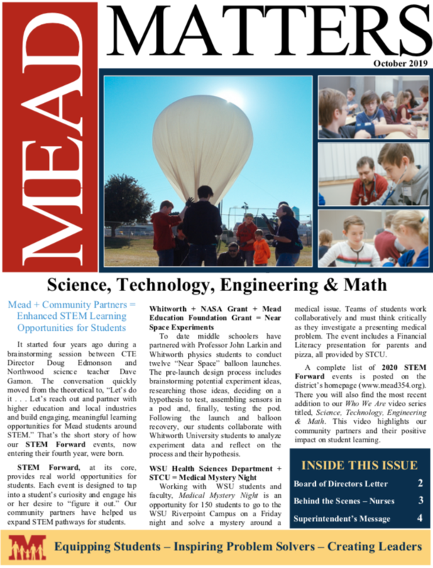 October Mead Matters Cover