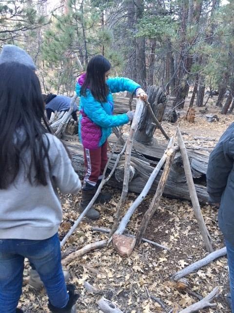 Camper building shelter