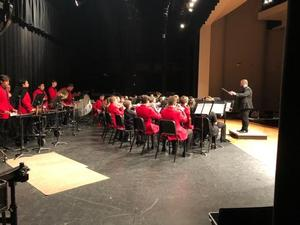 COHS Band being conducted by COHS Band Director Trent Graves