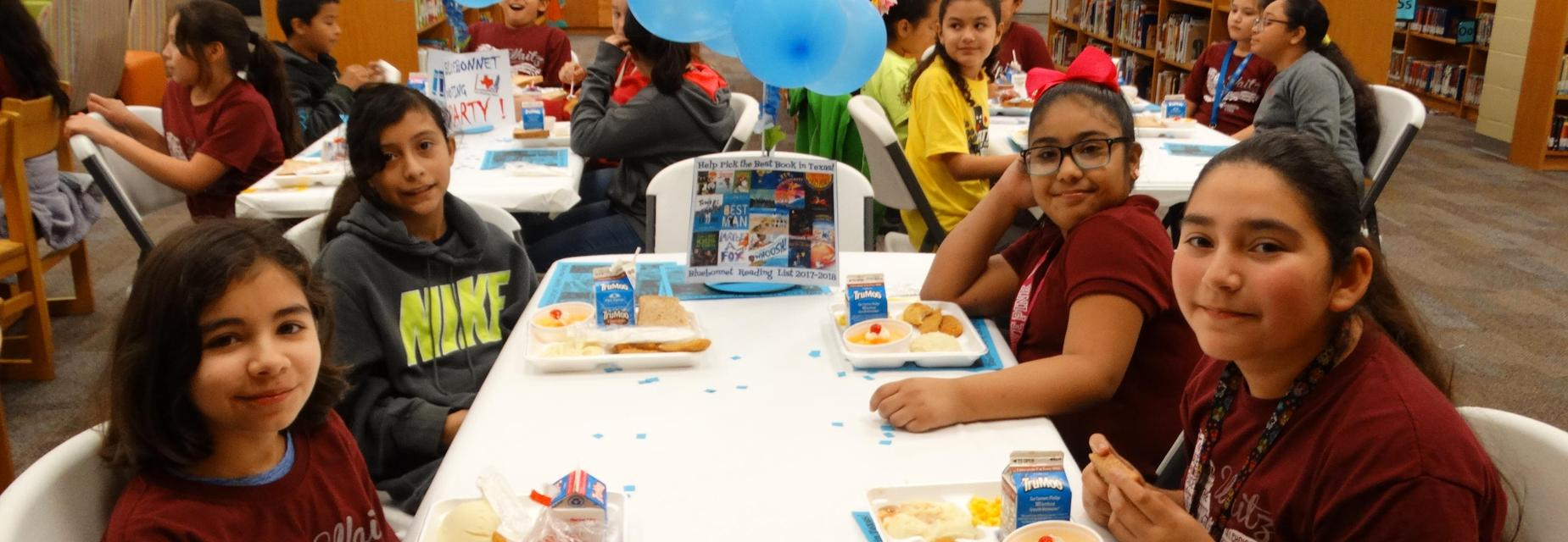 5th graders at Bluebonnet Voting Luncheon