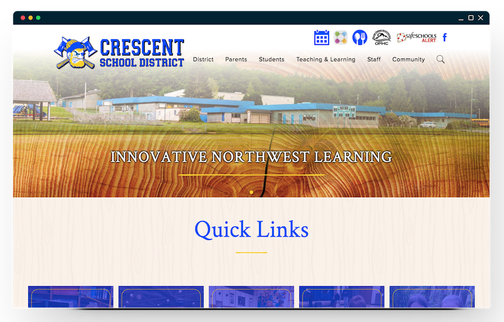 Crescent School District homepage