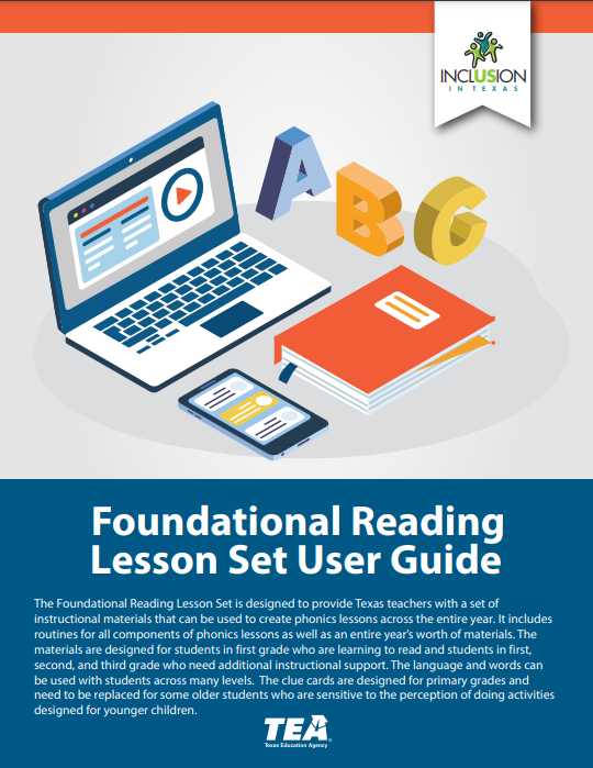 image of foundational reading lesson set cover