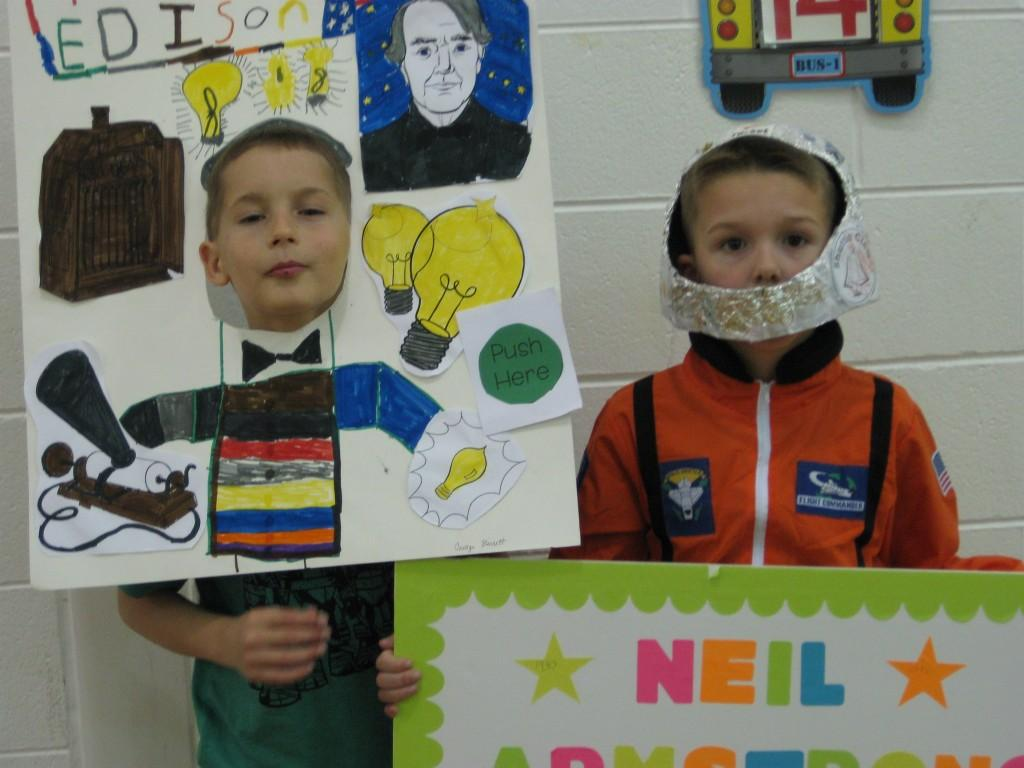 Wax Museum-Thomas Edison and Neil Armstrong