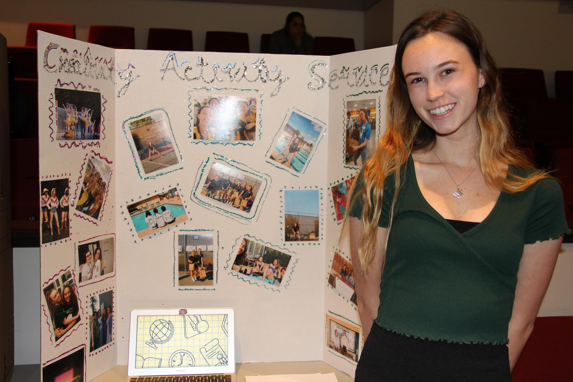 Image of IB Student - Maya - showcasing her Creativity, Activity & Service experiences