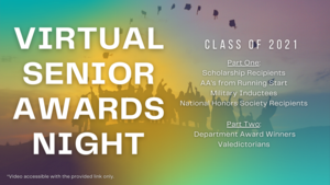 Virtual Senior Awards Night Flyer