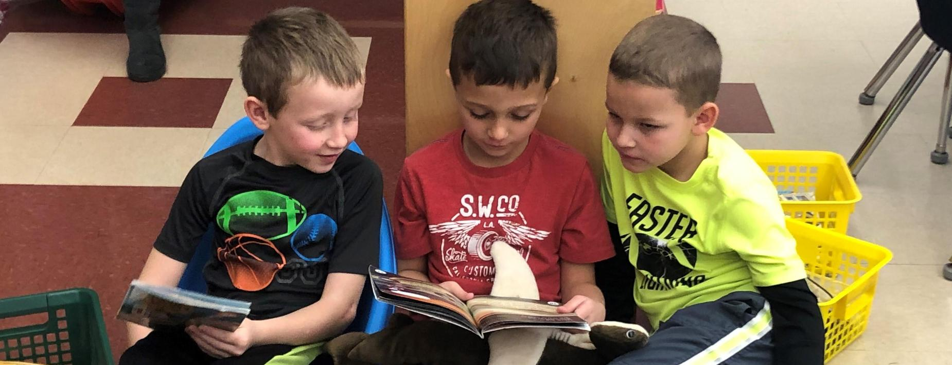 Reading together at ECC