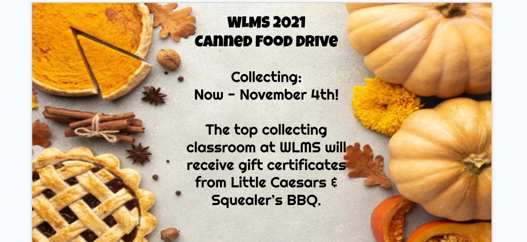 Canned food drive information